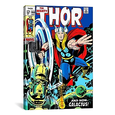 iCanvas Marvel Comics Book Thor Issue Cover 160 Graphic Art on Wrapped Canvas