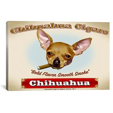 iCanvas Chihuahua Cigar Canvas Print Wall Art; 18'' H x 26'' W x 0.75'' D
