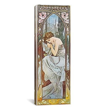 iCanvas Nocturnal Slumber, 1899 by Alphonse Mucha Graphic Art on Wrapped Canvas