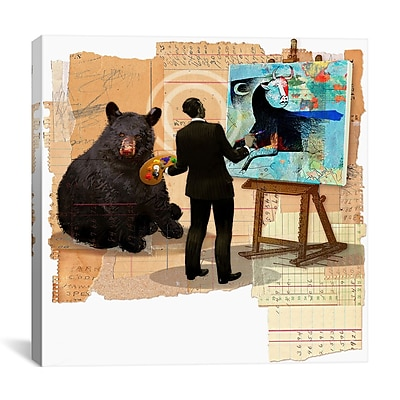 iCanvas Anthony Freda Bull Spin Graphic Art on Wrapped Canvas; 27'' H x 27'' W x 1.5'' D