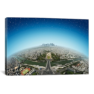 iCanvas 'Planet Paris' by Ben Heine Photographic Print on Wrapped Canvas; 12'' H x 18'' W x 0.75'' D