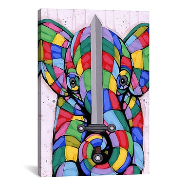 iCanvas Warrior of Color by Ric Stultz Graphic Art on Wrapped Canvas; 40'' H x 26'' W x 0.75'' D