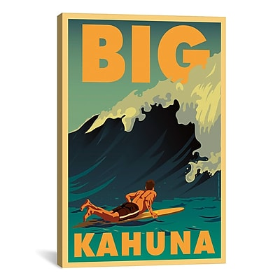 iCanvas American Flat Big Kahuna Graphic Art on Wrapped Canvas; 41'' H x 27'' W x 1.5'' D