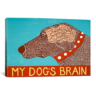 iCanvas My Dogs Brain Choc by Stephen Huneck Painting Print on Wrapped Canvas