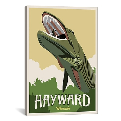 iCanvas Hayward Muskie by Steve Thomas Graphic Art on Wrapped Canvas; 61'' H x 41'' W x 1.5'' D