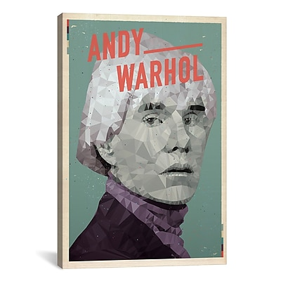 iCanvas American Flat Andy Warhol Graphic Art on Wrapped Canvas; 41'' H x 27'' W x 1.5'' D