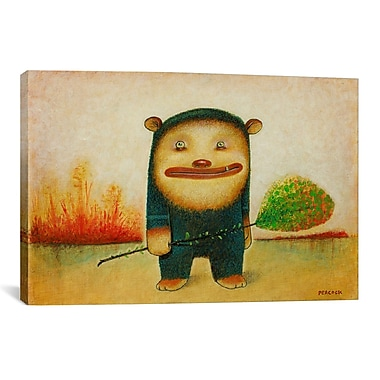 iCanvas 'Blue Bear' by Daniel Peacock Painting Print on Wrapped Canvas; 41'' H x 61'' W x 1.5'' D