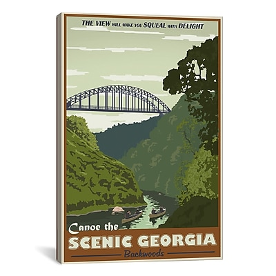 iCanvas Steve Thomas Cahulawasee River Graphic Art on Wrapped Canvas; 61'' H x 41'' W x 1.5'' D