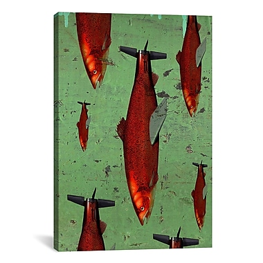 iCanvas Fish by Anthony Freda Painting Print on Wrapped Canvas; 61'' H x 41'' W x 1.5'' D