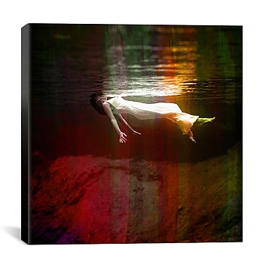 iCanvas Neon Pop Floating Red Photographic Print on Wrapped Canvas; 18'' H x 18'' W x 0.75'' D
