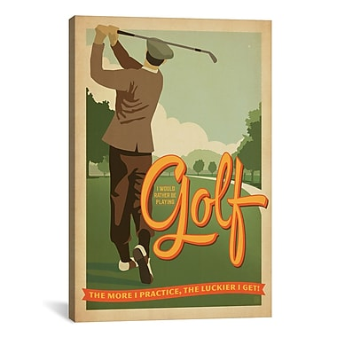 iCanvas ''Golf Bad Day'' by Anderson Design Group Graphic Art on Wrapped Canvas
