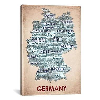iCanvas American Flat Germany Graphic Art on Wrapped Canvas; 40'' H x 26'' W x 0.75'' D