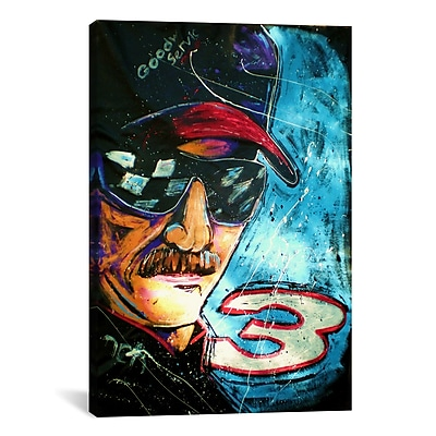 iCanvas Dale Earndhart by Rock Demarco Graphic Art on Wrapped Canvas; 40'' H x 26'' W x 0.75'' D