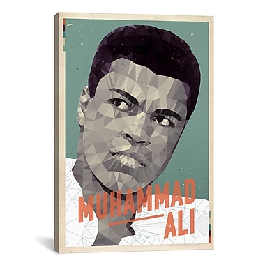 iCanvas American Flat Ali Graphic Art on Wrapped Canvas; 18'' H x 12'' W x 0.75'' D