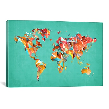 iCanvas Geometric Map #3 by Maximilian San Graphic Art on Wrapped Canvas; 12'' H x 18'' W x 0.75'' D