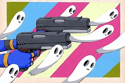 iCanvas Making New Ghosts by Ric Stultz Graphic Art on Wrapped Canvas; 26'' H x 40'' W x 1.5'' D