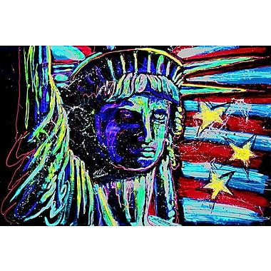 iCanvas Liberty for Prints 001 Touched by Rock Demarco Painting Print on Wrapped Canvas