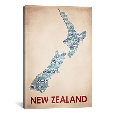 iCanvas New Zealand Graphic Art on Wrapped Canvas; 61'' H x 41'' W x 1.5'' D