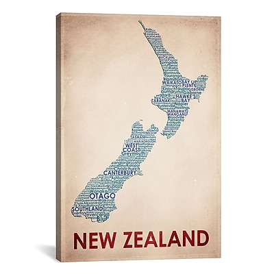 iCanvas New Zealand Graphic Art on Wrapped Canvas; 41'' H x 27'' W x 1.5'' D