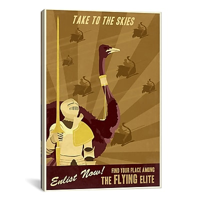 iCanvas The Flying Elite by Steve Thomas Graphic Art on Canvas; 26'' H x 18'' W x 0.75'' D