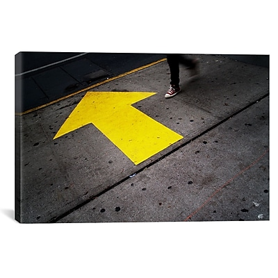 iCanvas New York City Directions by Nina Papiorek Photographic Print on Wrapped Canvas