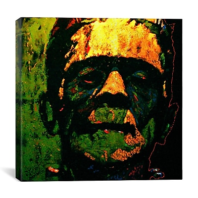 iCanvas Frank N Stein 001 Touched by Rock Demarco Painting Print on Wrapped Canvas