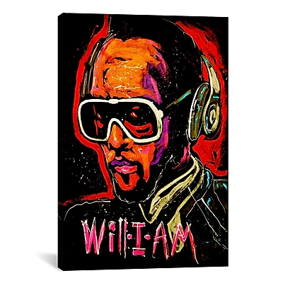 iCanvas Will I Am 001 by Rock Demarco Painting Print on Wrapped Canvas; 61'' H x 41'' W x 1.5'' D
