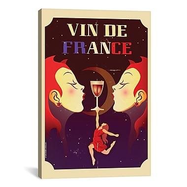 iCanvas Vin De France Graphic Art on Canvas; 41'' H x 27'' W x 1.5'' D
