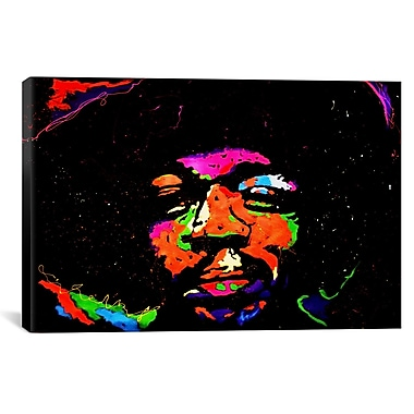 iCanvas Hendrix 001 by Rock Demarco Painting Print on Wrapped Canvas; 12'' H x 18'' W x 0.75'' D