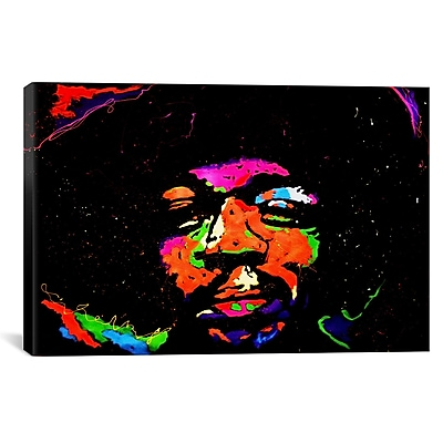 iCanvas Hendrix 001 by Rock Demarco Painting Print on Wrapped Canvas; 41'' H x 61'' W x 1.5'' D