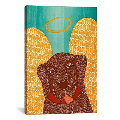 iCanvas Stephen Huneck Angel Dog Choc Painting Print on Wrapped Canvas; 40'' H x 26'' W x 0.75'' D