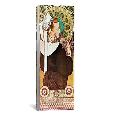 iCanvas Heather, c.1901 by Alphonse Mucha Graphic Art on Wrapped Canvas; 12'' H x 36'' W x 0.75'' D