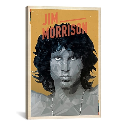 iCanvas American Flat Jim Morrison Graphic Art on Wrapped Canvas; 18'' H x 12'' W x 0.75'' D