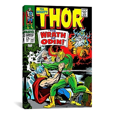 iCanvas Marvel Comic Book Thor Issue Cover #147 Graphic Art on Wrapped Canvas