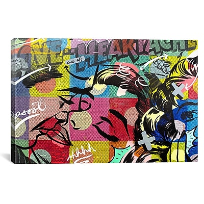 iCanvas Fearless Heartache Canvas Print Wall Art; 18'' H x 26'' W x 0.75'' D