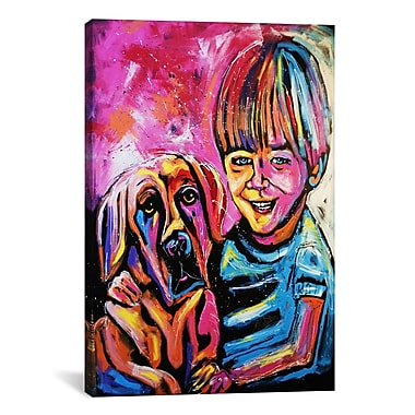 iCanvas Demaio Fam Painting 001 by Rock Demarco Graphic Art on Wrapped Canvas