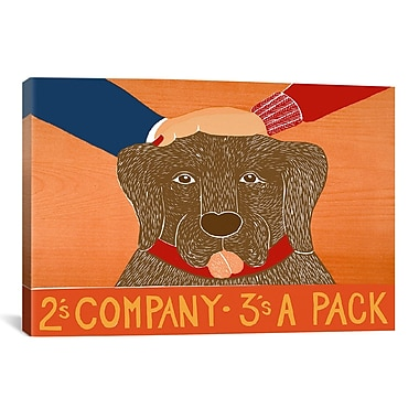 iCanvas Stephen Huneck 2S Company Choc Painting Print on Wrapped Canvas; 27'' H x 41'' W x 1.5'' D
