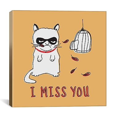 iCanvas I Miss You Print by Maximilian San Graphic Art on Wrapped Canvas; 18'' H x 18'' W x 0.75'' D
