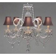 Harrison Lane Royal 5-Light Crystal Chandelier; Pink