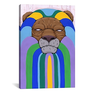 iCanvas Head of the Pride Painting Print on Wrapped Canvas; 26'' H x 18'' W x 0.75'' D