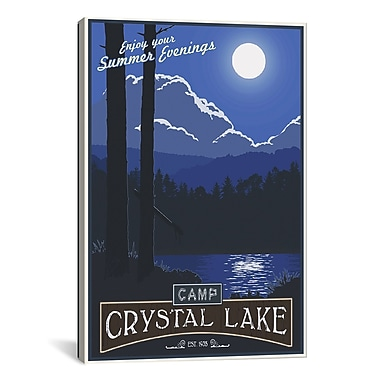 iCanvas Camp Crystal Lake by Steve Thomas Graphic Art on Wrapped Canvas; 41'' H x 27'' W x 1.5'' D