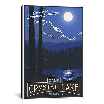 iCanvas Camp Crystal Lake by Steve Thomas Graphic Art on Wrapped Canvas; 18'' H x 12'' W x 0.75'' D