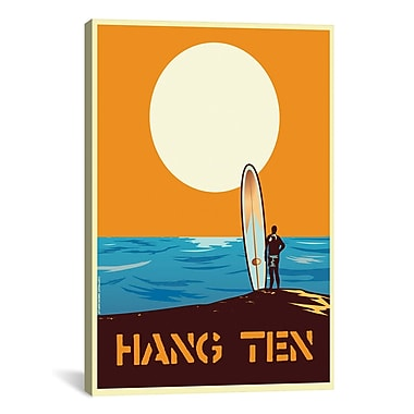 iCanvas Hang Time Graphic Art on Wrapped Canvas; 18'' H x 12'' W x 0.75'' D