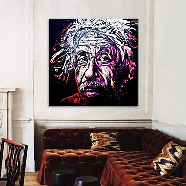 iCanvas New Einstein 002 by Rock Demarco Graphic Art on Wrapped Canvas; 18'' H x 18'' W x 0.75'' D
