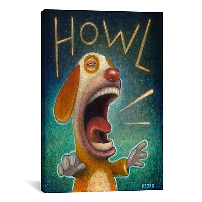 iCanvas 'Howl' by Daniel Peacock Painting Print on Wrapped Canvas; 26'' H x 18'' W x 0.75'' D