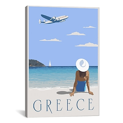 iCanvas Greece by Steve Thomas Graphic Art on Wrapped Canvas; 26'' H x 18'' W x 0.75'' D