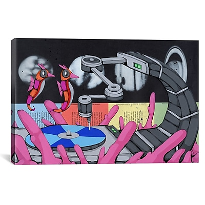 iCanvas Ric Stultz Attracted To The Sound Graphic Art on Wrapped Canvas; 27'' H x 41'' W x 1.5'' D