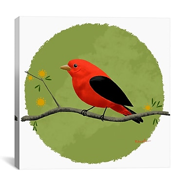 iCanvas Brian Rubenacker Scarlet Tanager Painting Print on Wrapped Canvas; 27'' H x 27'' W x 1.5'' D