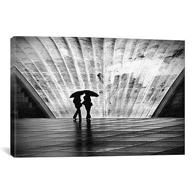 iCanvas Paris La Pluie by Nina Papiorek Photographic Print on Wrapped Canvas