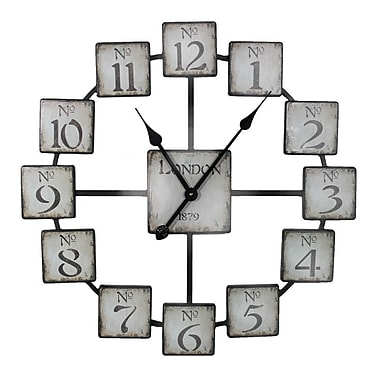 Entrada Oversized London 23.6'' Wall Clock